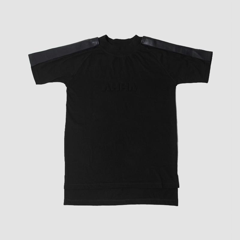 T-shirt Leather Black